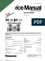Panasonic SA VK725 DGC Service Manual