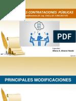 Gestion de Las Contrataciones. Modificaciones a La LCE Y Reglamento - MTC