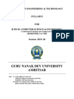 Btech Computer Science and Engg Cbegs 2019-20