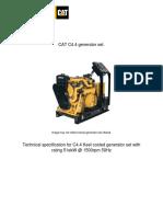 Caterpillar C4.4DIT Generator Set