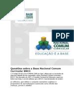 Questões Sobre a Base Nacional Comum Curricular BNCC