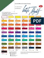 Watercolour White Nights Chart