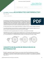 ¿Cómo Funciona Un Reductor o Motorreductor