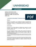 Actividad de Aprendizaje 2. Definición de plan de acción