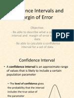Confidence intervals and margin of error