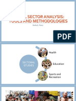 Planning Tools for Health, Education, Sports