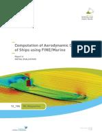 Computation of Aerodynamic Coefficients of Ships Using FINEMarine