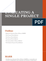 Evaluating Single Project