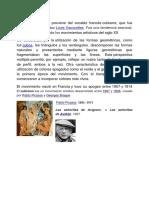 El Término Cubismo Proviene Del Vocablo Francés