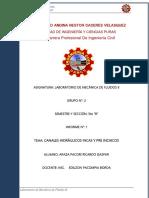 Informe i - Mecanica de Fluidos II 1