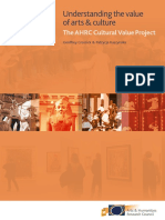 AHRC Understanding the Value of Arts and Culture