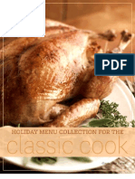 Thanksgiving Classic Cook Menu
