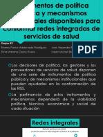 Instrumentos de Política Pública y Mecanismos Institucionales Disponibles