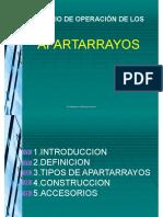 PRINCIPIO DE OPERACIÓN DE LOS APARTARRAYOS