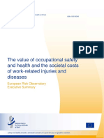 Summary Value of OSH and Societal Costs Injuries and Diseases