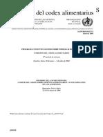 Norma Codex Alimentarius - ADITIVOS ALIMENTARIOS Y CONTAMINANTES DE LOS ALIMENTOS