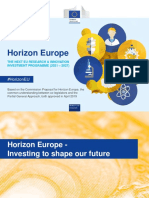 Horizon Europe en Investing to Shape Our Future