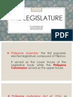 The Legislature- Report in Politics