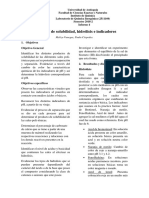 Informe Producto de Solubilidad, Hidrolis e Indicadores