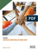 Auditor Lider IRCA 45001