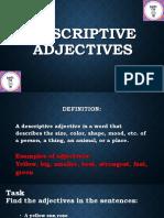 Descriptive & Quantitative Adjectives for Students