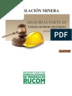 MEMORIAS LESGILACION MINERA  III PARTE 2019.pdf