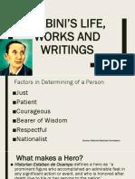1 Mabini's Life, Works and Writings