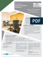 Financial Modeling October 2015 Module 3