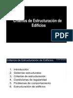 Criterios de estructuración de Edificios