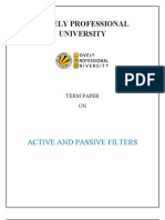 Active and Passive Filter