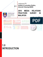 2010 Media Relations Practices Survey in Malaysia