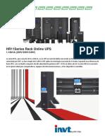 HR11Series Rack Online UPS 6-10KVA Rack-Torre