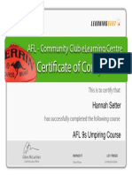 afl 9s umpiring course certificate