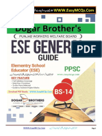 ESE General PPSC MCQs Dogar Brothers PDF Book