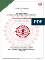 Bba General Syllabus 2017-18