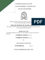 Indicaciones Para Formato Portada de Tesis