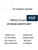 Article 12 and 13 of Indian Constitution
