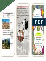 Patrimonio Peruano Triptico