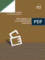 Revista ISEES (Inclusión social y equidad en la educación superior) VOLUMEN 7