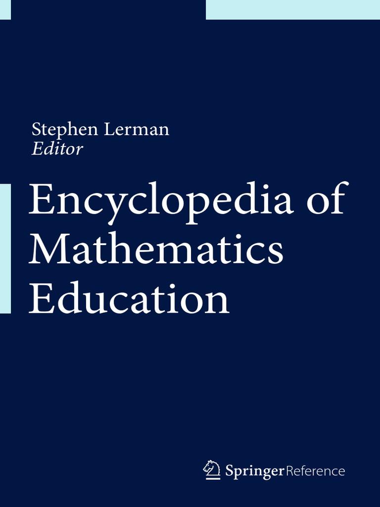 Encyclopedia Of Mathematics Education PDFDrive Pdf