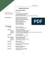 Curriculum Vitae - Peter Williams
