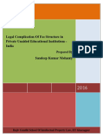 Legal Complication in Fee Structure in Private Unaided Educational Institutions