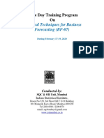 Statistical Techniques for Business Forecasting