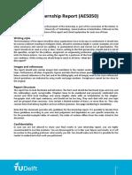 Guidelines Internship Report (AE5050)2