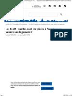 Chambre de Paris - Loi ALUR - Quelles Sont Les Pièces à Fournir Pour Vendre Son Logement