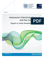 Indonesi's Electricity and domestic coal demand