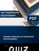 The Therapeutic Relationship - Leslie Melisa