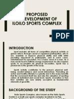 Proposed Redevelopment of Iloilo Sports Complex