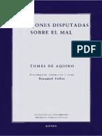 Aquino Tomás de Cuestiones Disputadas Sobre El Mal 2015