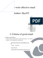 Write email effectively